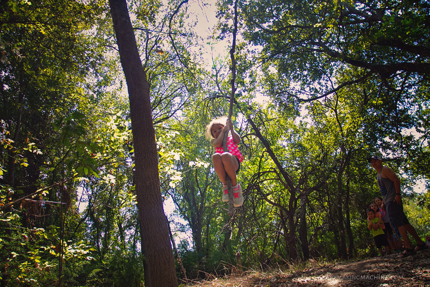 Nature hike with kids Austin