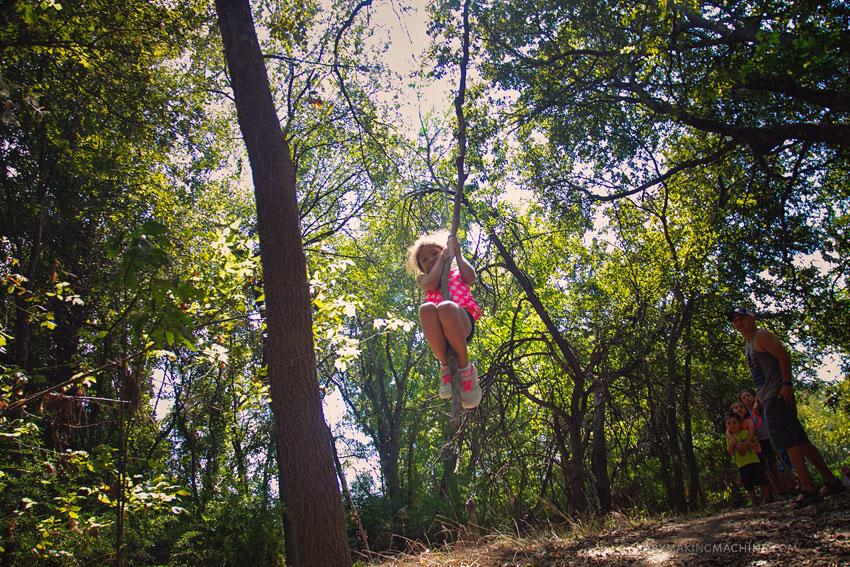 Nature hike with kids Austin