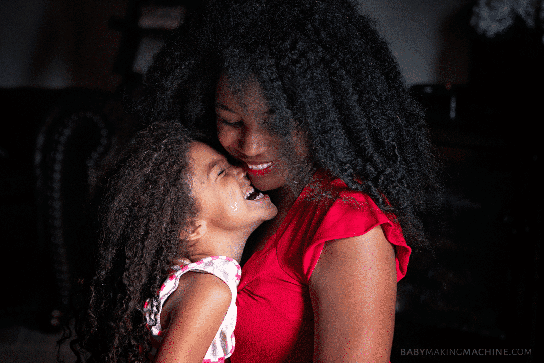 Mommy and me natural hair.