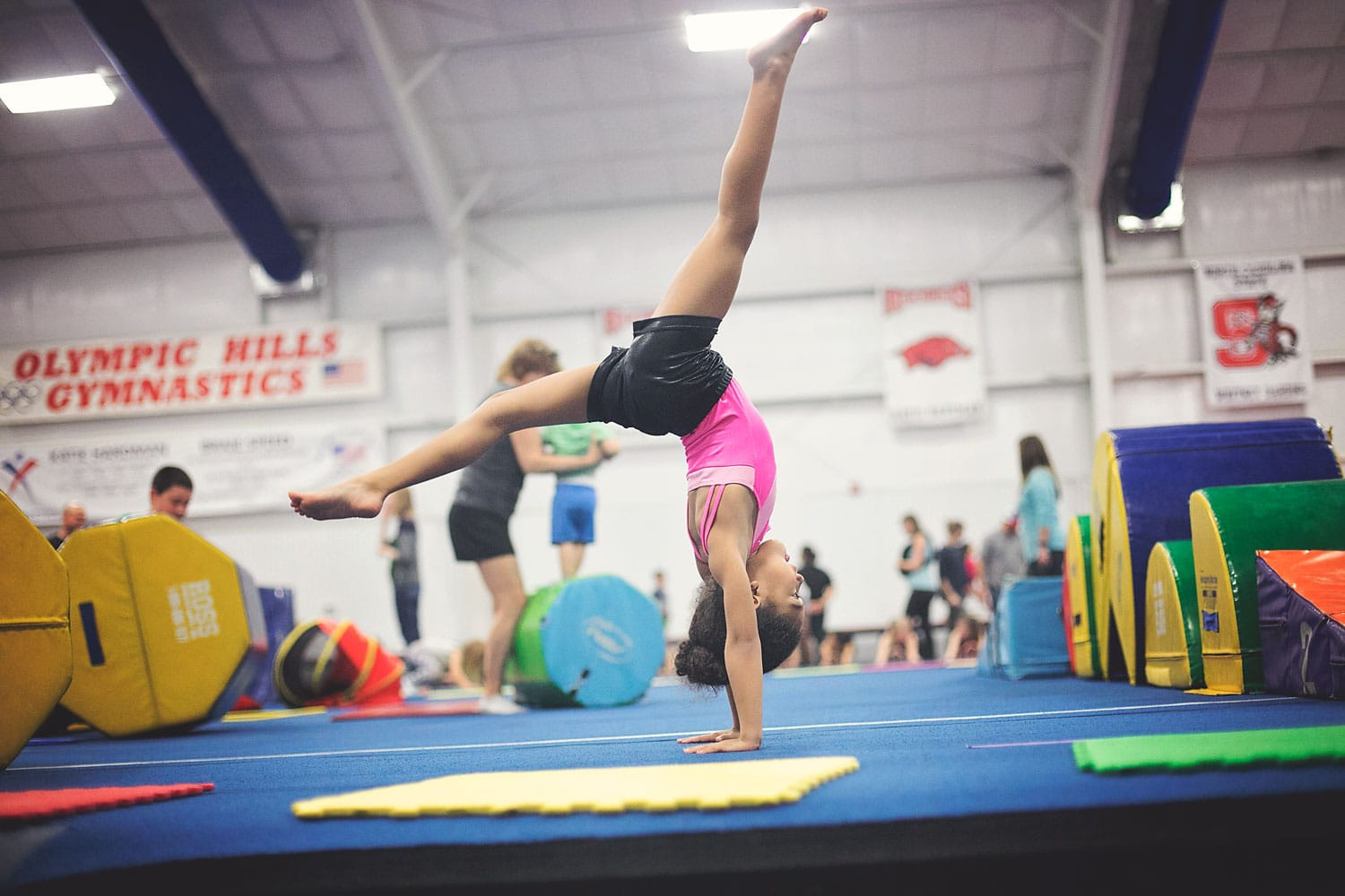 Tiny gymnast 6-years-old. It's crazy watching your child become a person.