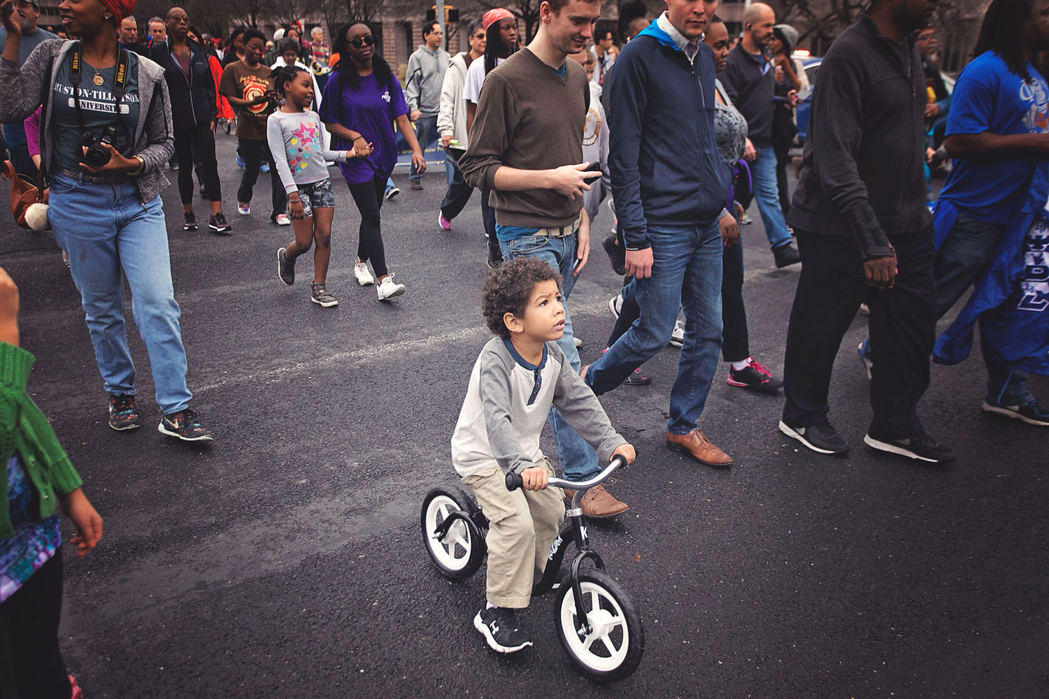 Celebrate Martin Luther King Jr. Day with kids. MLK March with kids.