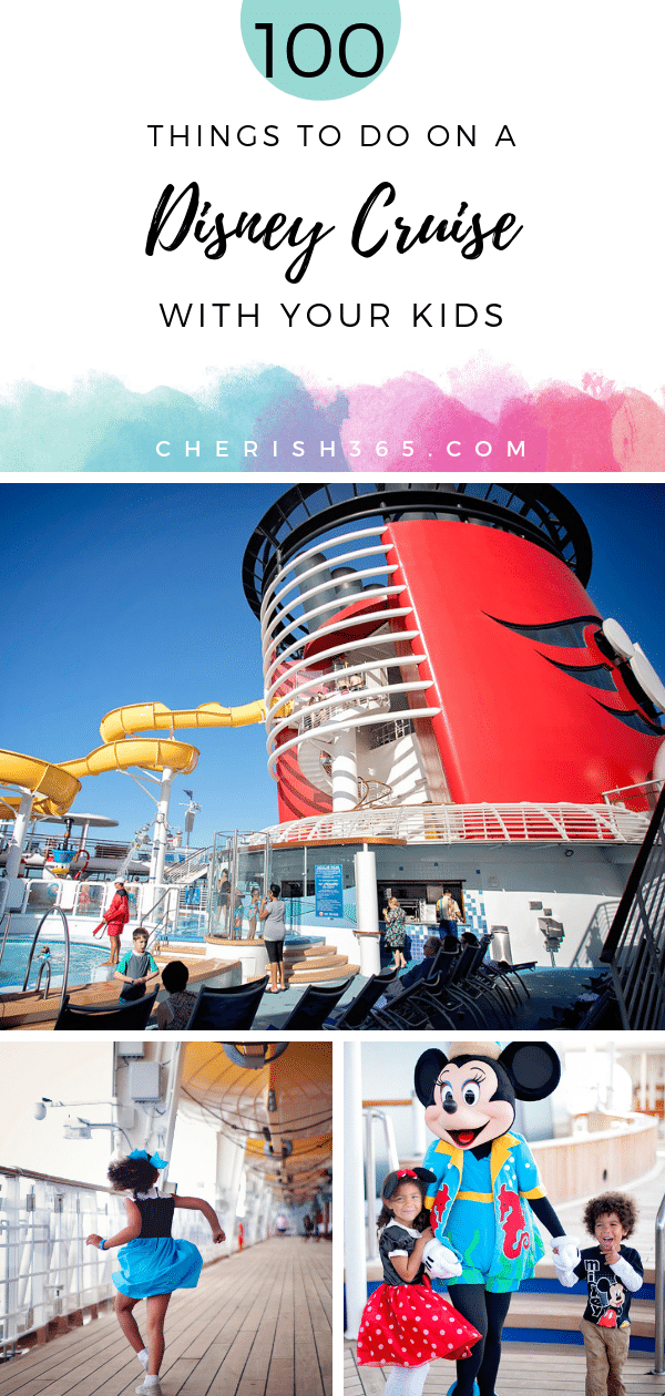 100 things to do on a Disney Cruise. Not sure what there is to do on a Disney Cruise? Here\'s a long list to print and checkoff. #DisneyCruise