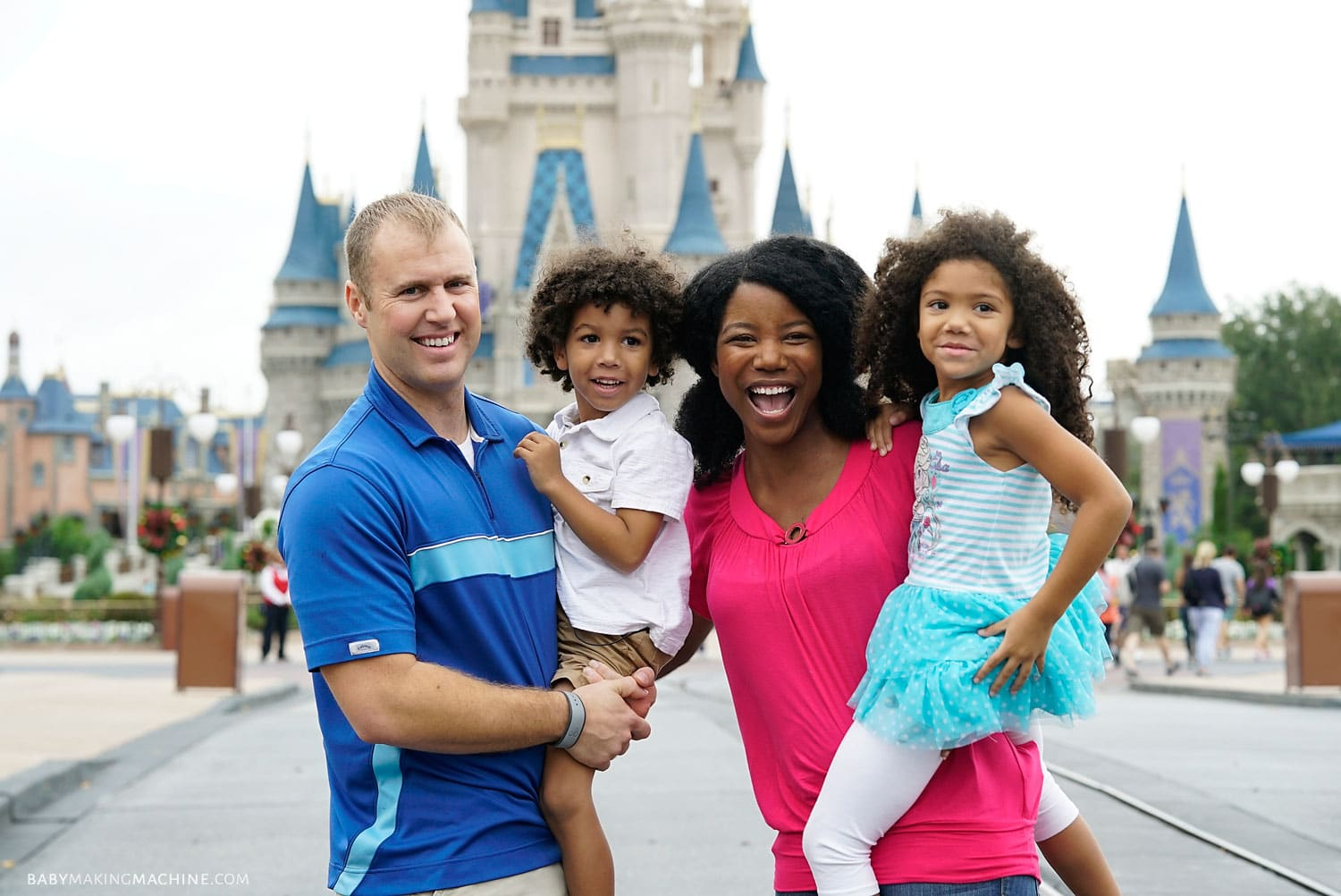 Interracial family at Disney World. Multiracial family blogger