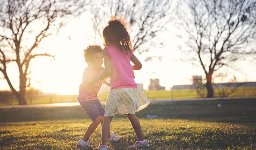 Watching my children play is like magic. Raising biracial children. A millennial mom blog.