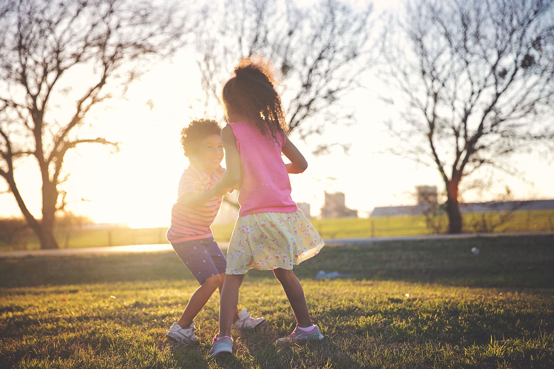 Watching my children play is like magic. Raising biracial children. A millennial mom blog.