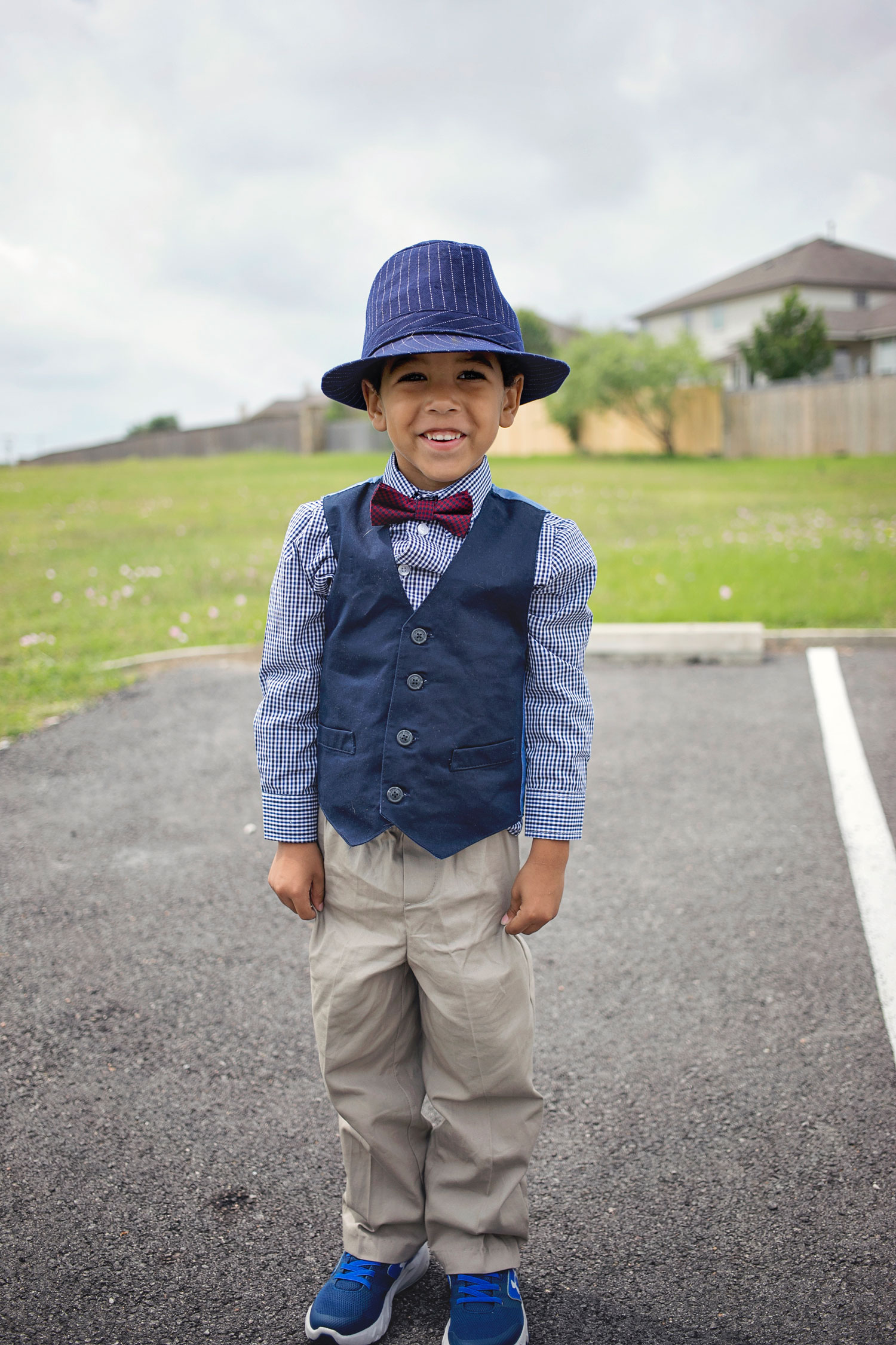 Dressed up all dapper for Easter 2017.