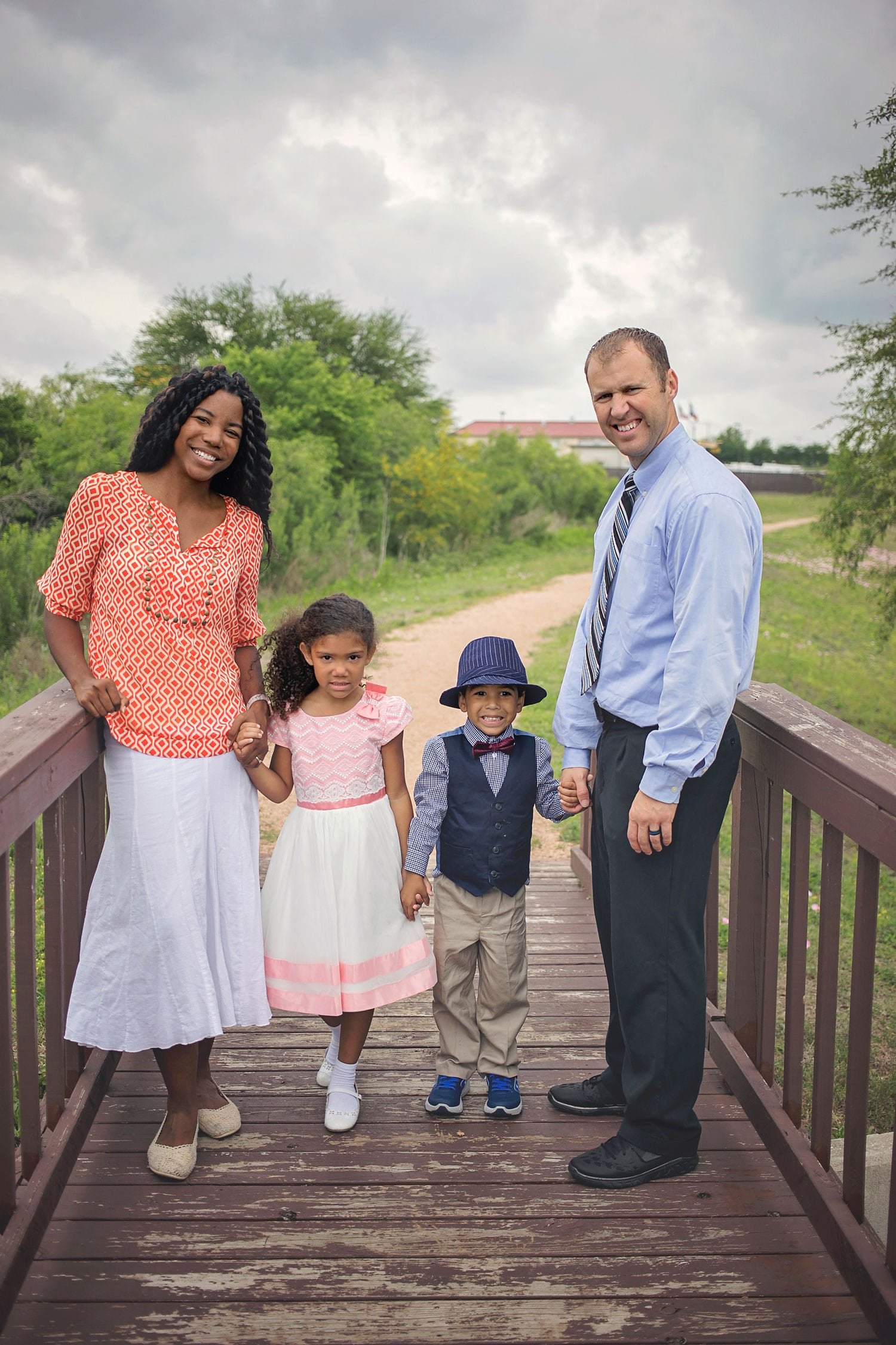 Interracial Family Easter photo for 2017. Sharing my beliefs.