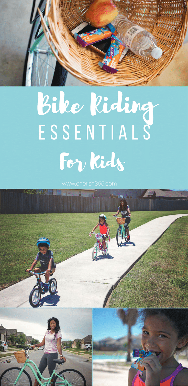 A guide to biking with children and what to pack on your outing. #familyoutings #biketrails #bicyclesafety