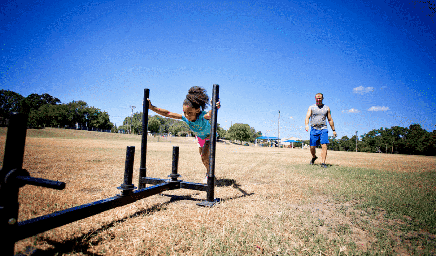 How we exercise as a family and the importance of getting out and playing together.