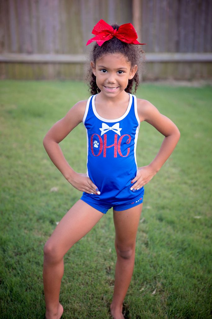 Helping your child follow their passions. All-star youth cheerleader level 1.