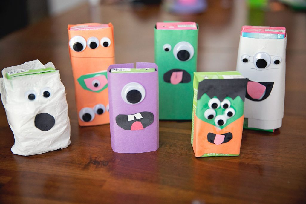 DIY juice box monster craft tutorial.