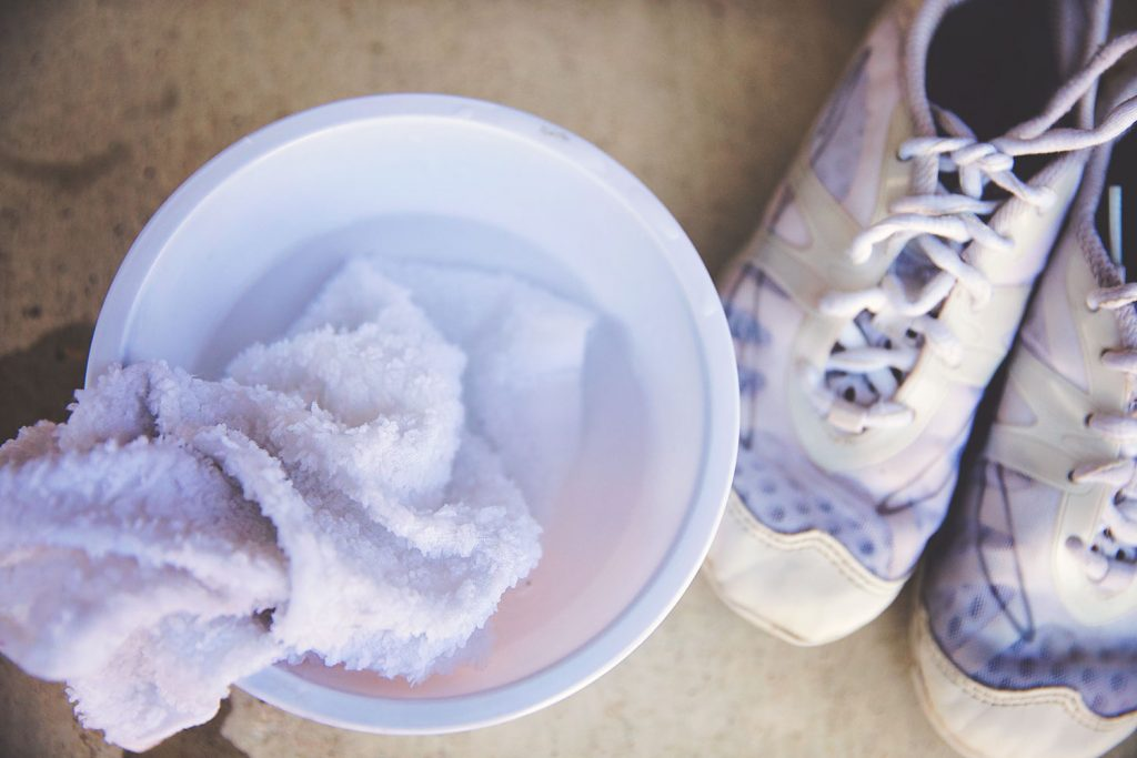 How to wash cheer shoes.