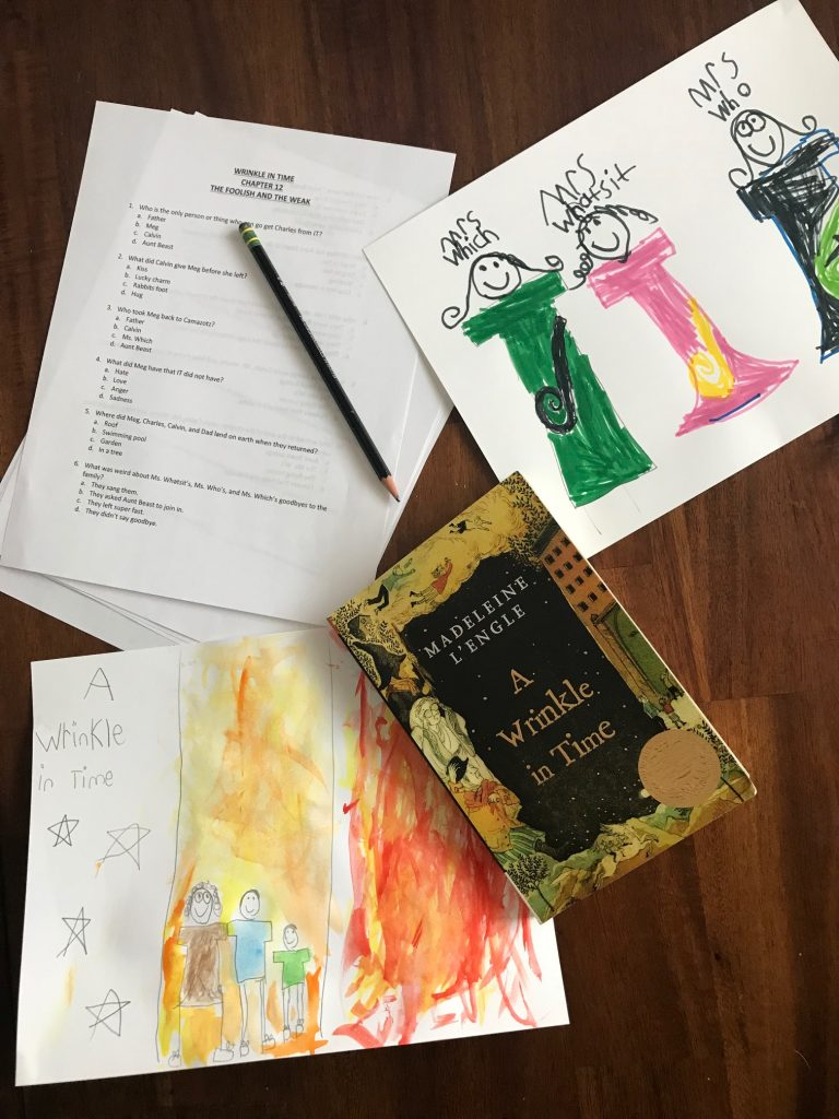 wrinkle in time homeschool unit study