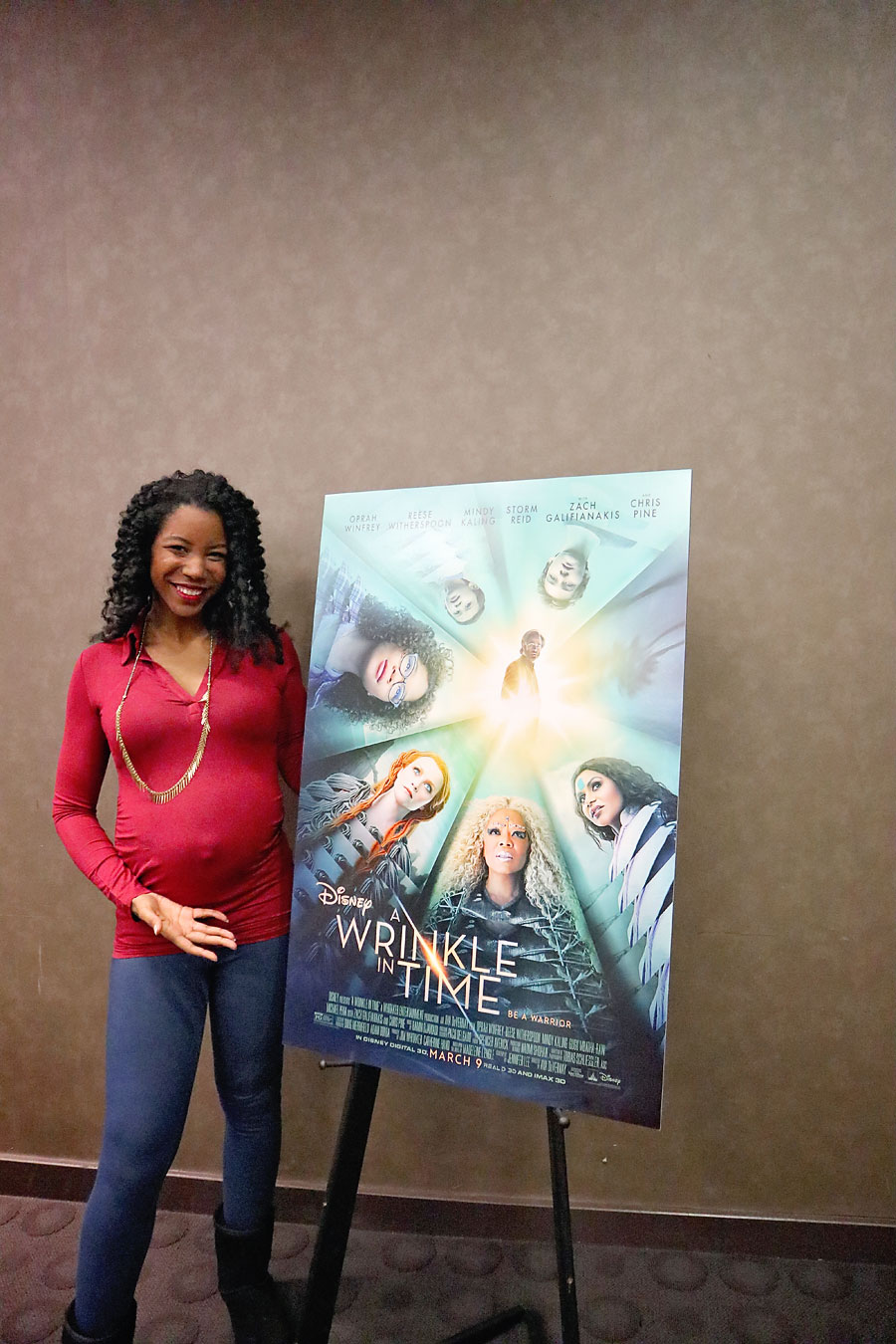 Getting ready to interview Oprah Winfrey at Wrinkle in Time Event