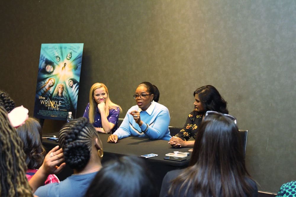 Interview with Oprah Winfrey, Reese Witherspoon and Mindy Kaling for Disney's A Wrinkle in Time