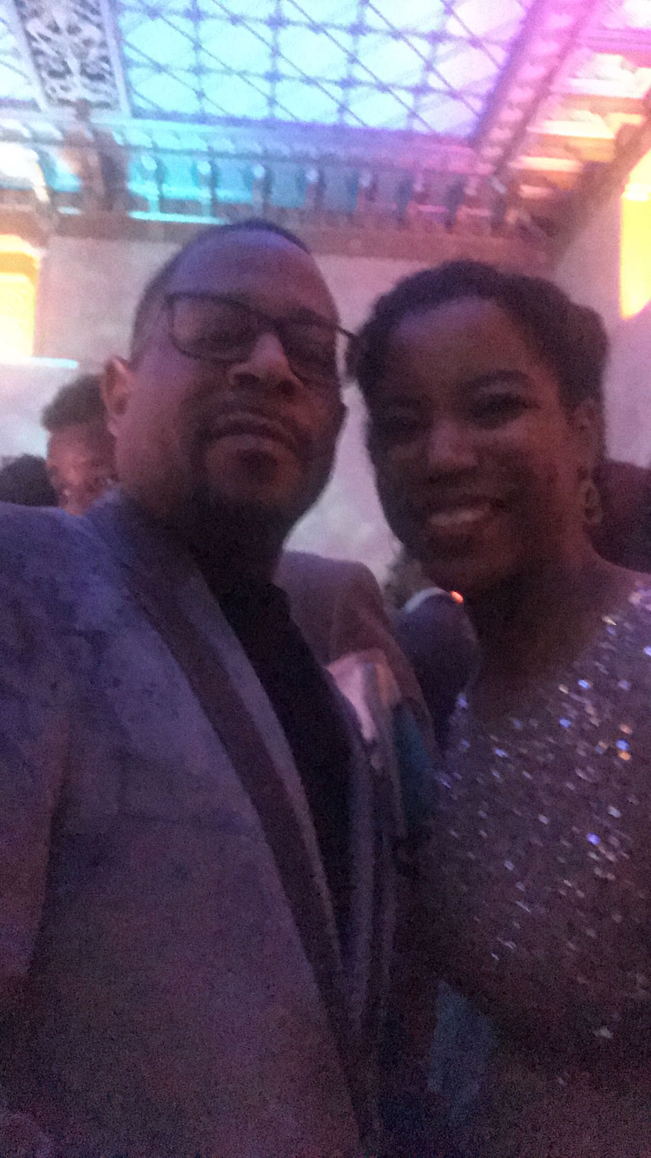 Dreams come true. How this selfie with Martin Lawrence came to be during Disney's A Wrinkle in Time Premiere