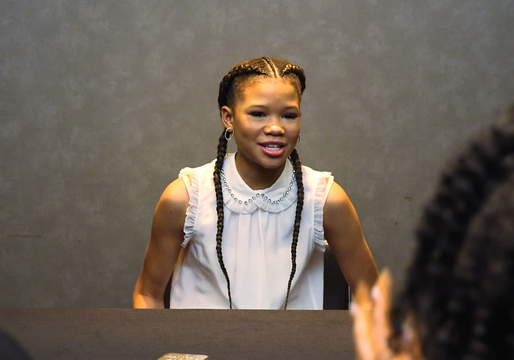 Interview with Storm Reid on Wrinkle in Time and inspiration for young black girls.