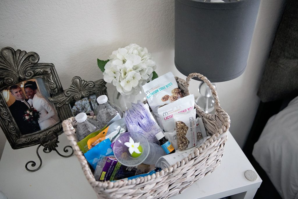 Breastfeeding tips and how to create a lactation station breastfeeding basket