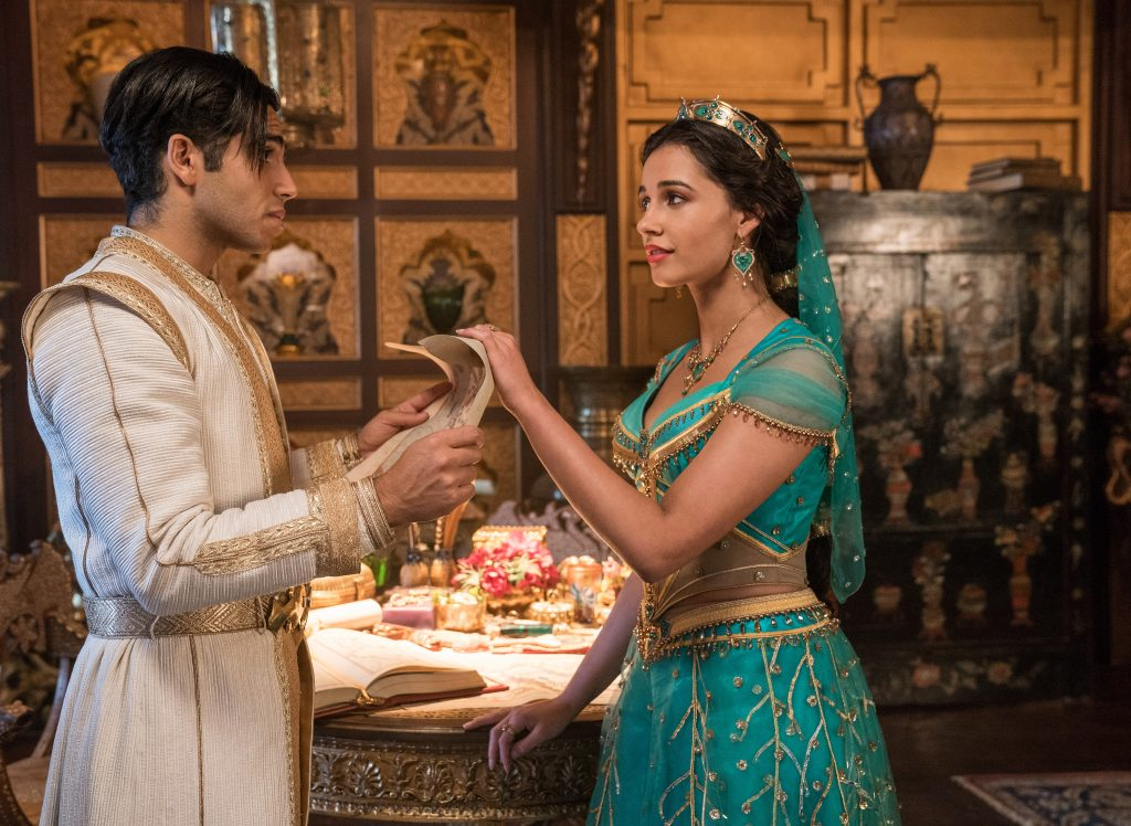 Aladdin and Jasmine in Aladdin review. Disney live action movies ranked.