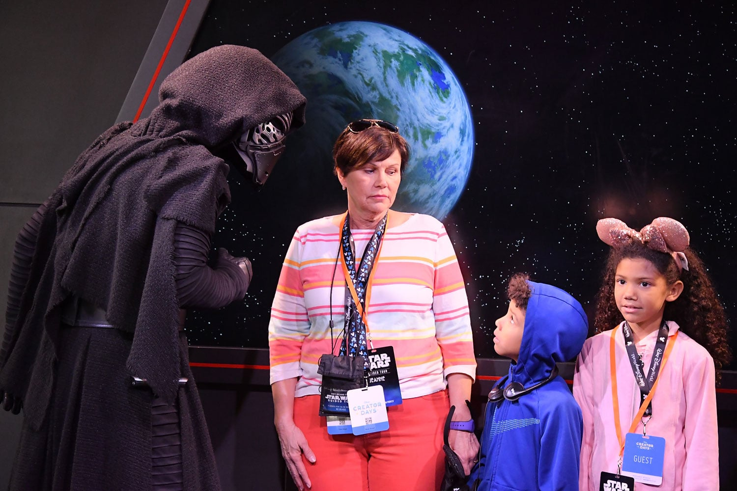 Family meets Kylo Ren on the Star Wars Guided Tour at Disney's Hollywood Studios