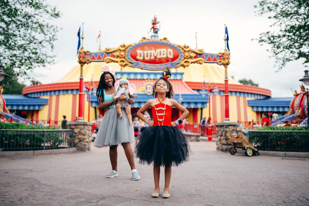 Mother and daughter Disney bound Dumbo as Timothy Mama Jumbo and Dumbo