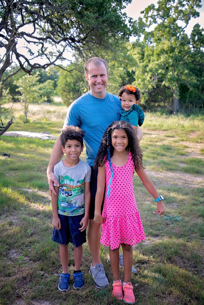 white father with biracial children don't get the wrong first impression