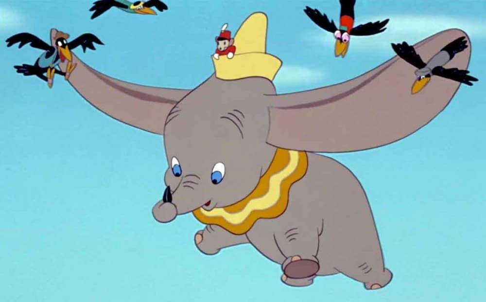 racism crows Dumbo help him fly. Clip from the movie.