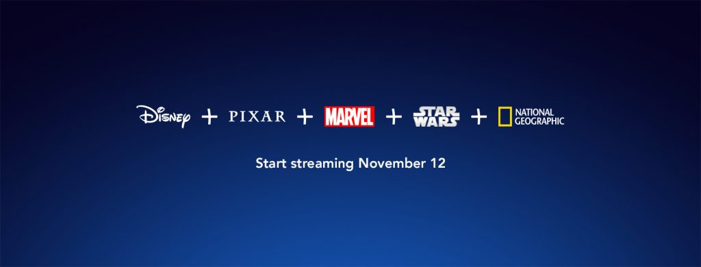 Disney+ offerings for their new streaming service