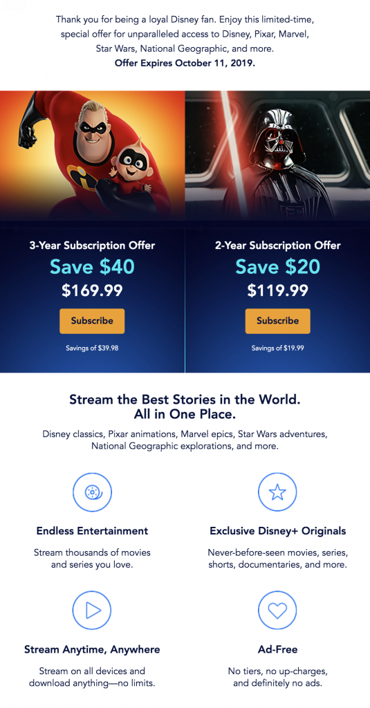 how to sign up for disney plus for a discount