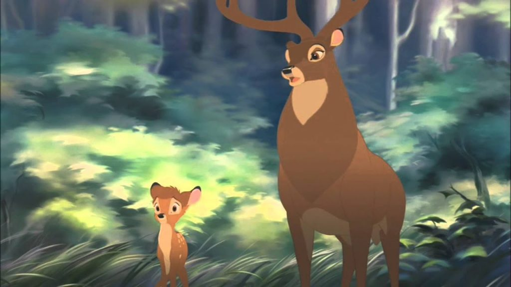 Bambi and his father in Bambi sequel
