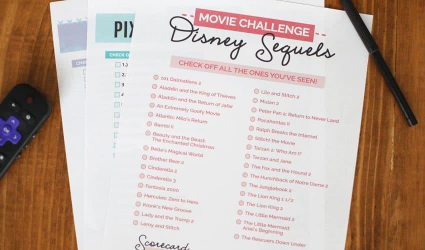 disney movie marathon checklist