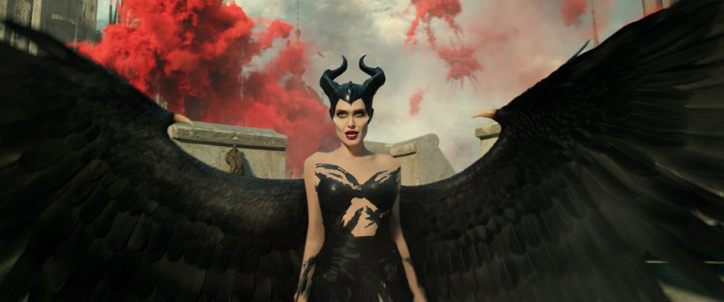 Angelina Jolie as Maleficent in a stunning costume.