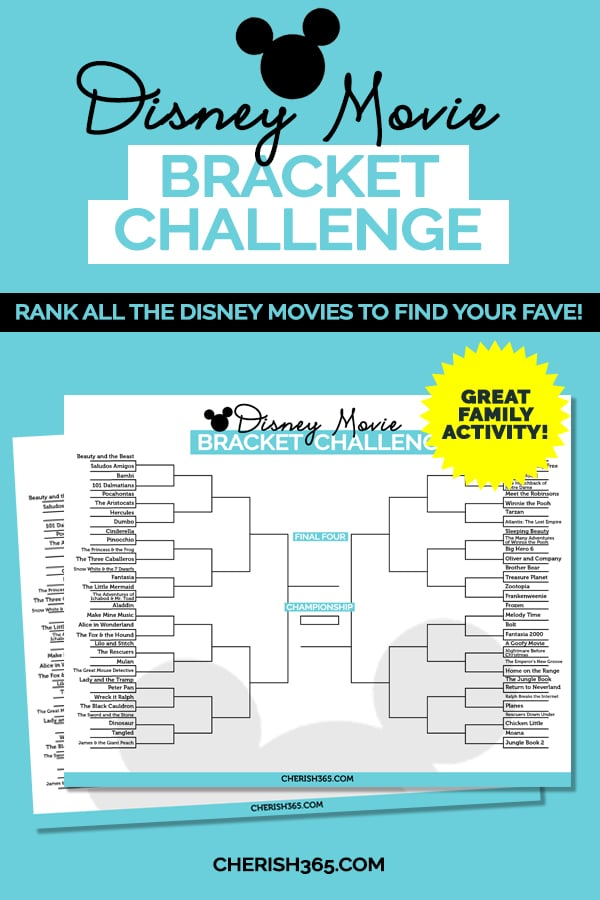 Disney movie bracket