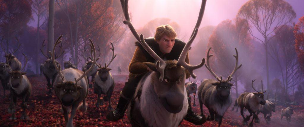 Kristoff riding Sven a 9-year-olds Frozen 2 kids review