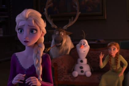 Frozen 2 clip Elsa and Anna playing a game