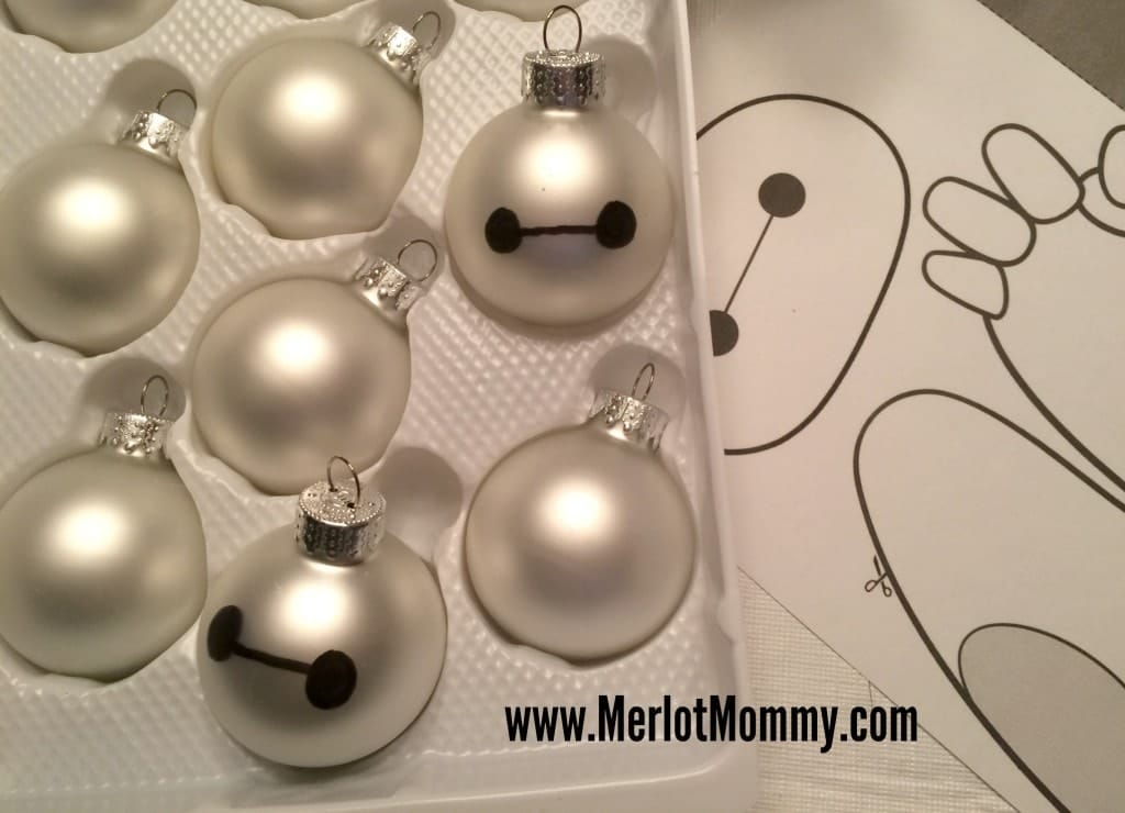 A simple DIY Disney ornament to look like Baxmax from Big Hero 6.