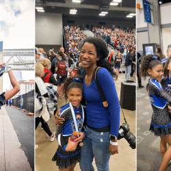 all-star cheerleaders at a cheerleading competition