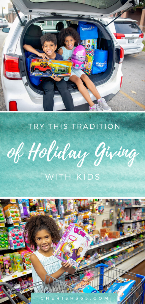 holiday giving with kids