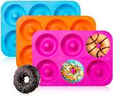 3-Pack Silicone Donut Baking Pan of 100% Nonstick Silicone. BPA Free Mold Sheet Tray