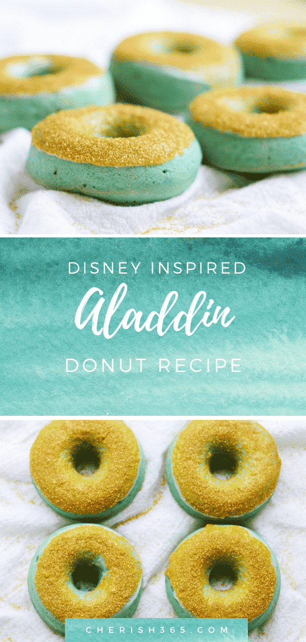 Disney inspired Aladdin dessert idea Princess Jasmine donuts. A perfect dessert for an Aladdin party.