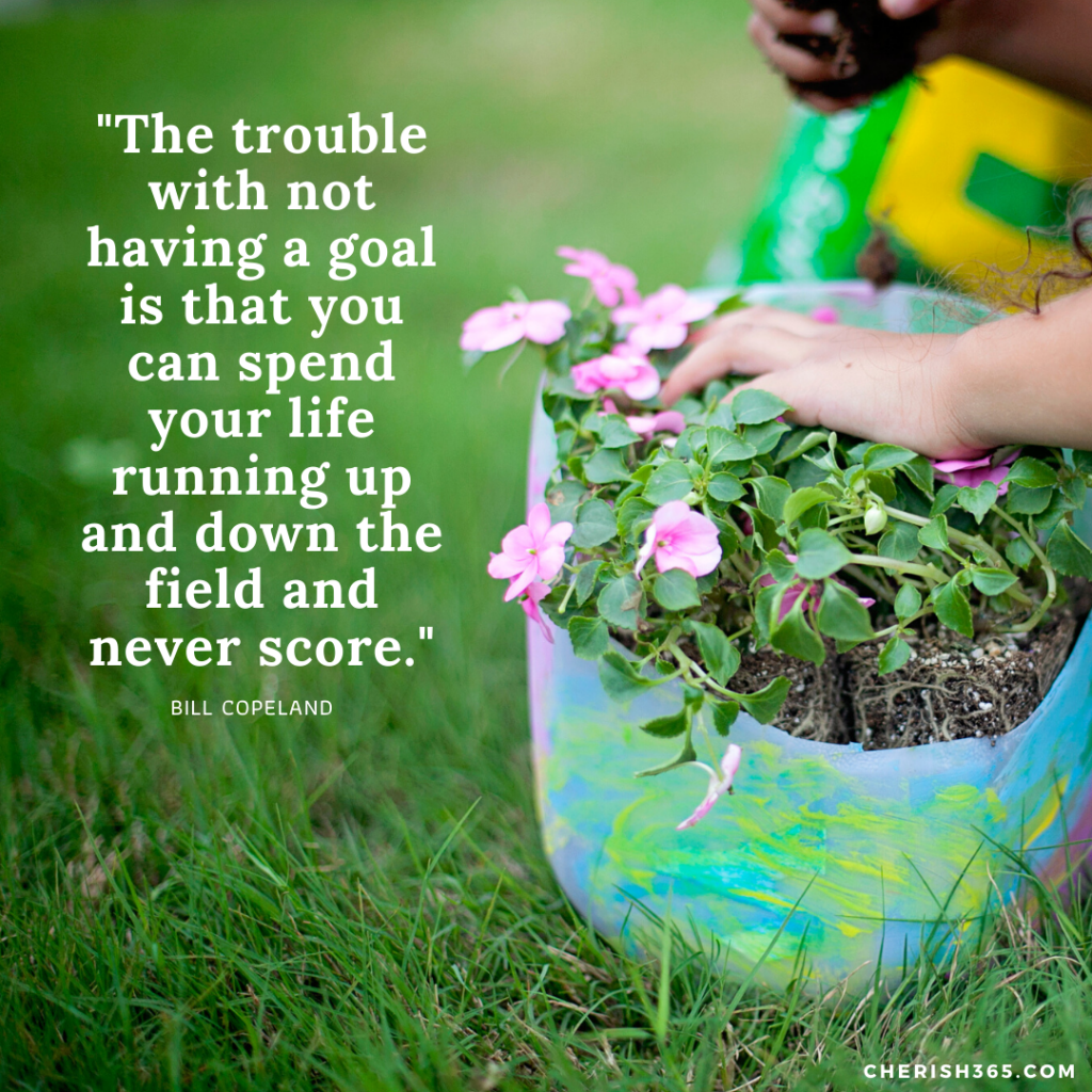 """The trouble with not having a goal is that you can spend your life running up and down the field and never score.""– Bill Copeland quotes for goal setting"