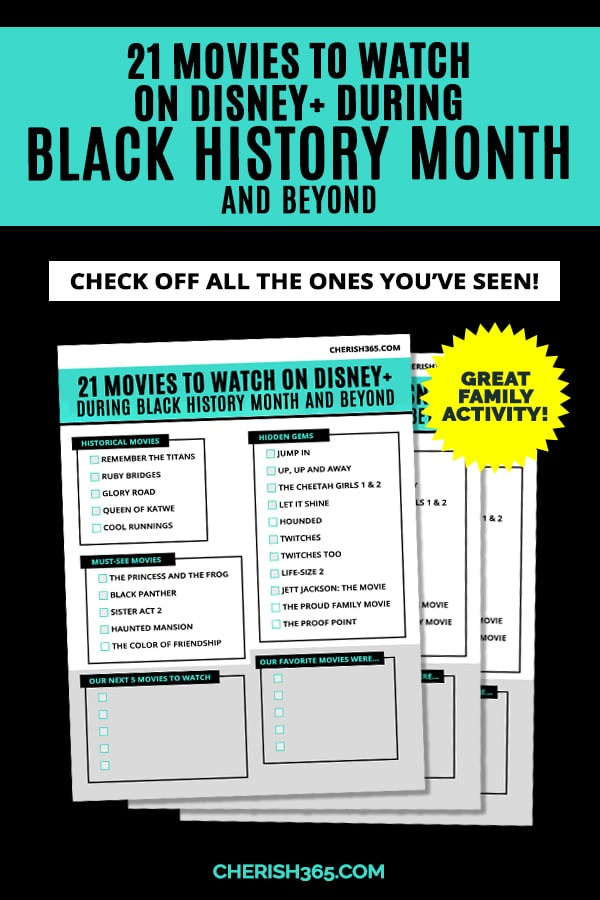 Free black history month Disney movies worksheet
