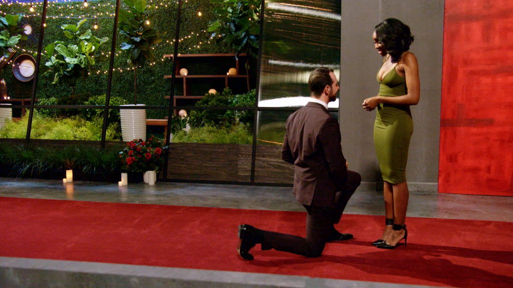 white man proposes to his black girlfriend on Netflix's Love is blind