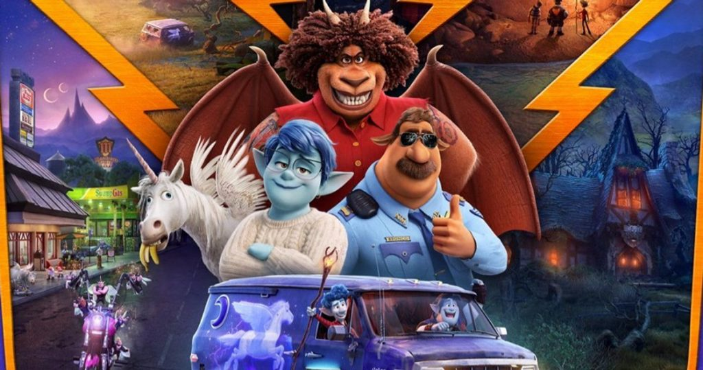 Diverse characters in Pixar Onward. A review