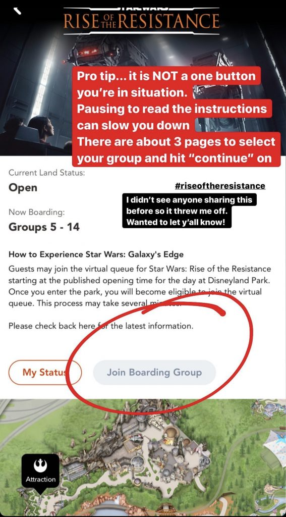 How to get a rise of the resistance boarding group number screenshot tutorial.