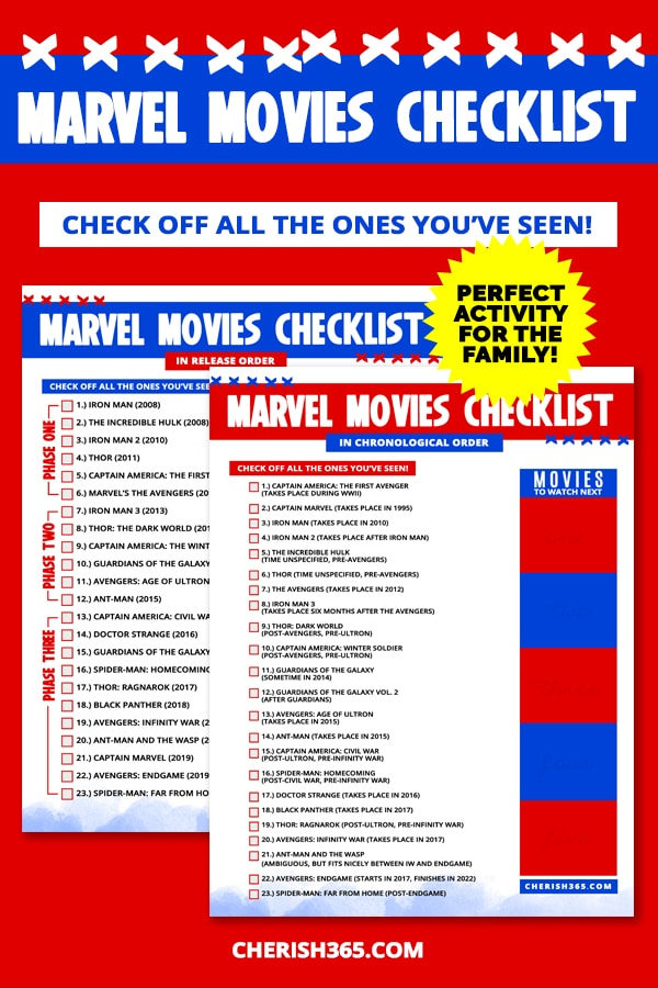 Marvel movie in order pdf checklist