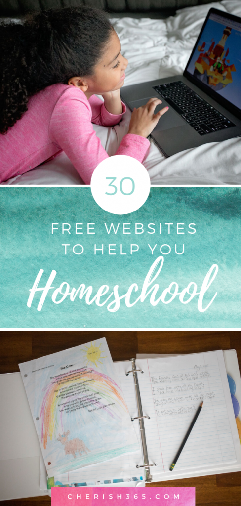 A round up of more than 30 websites with various online homeschool curriculum to help you homeschool for free.