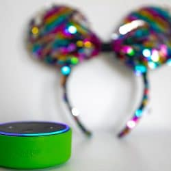 An echo dot for kids playing disney games