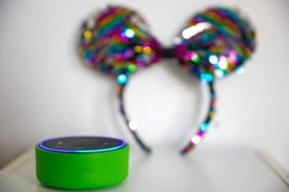 An echo dot for kids playing disney games