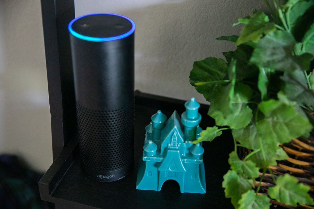Free Disney games on Alexa first generation Echo device lighting up
